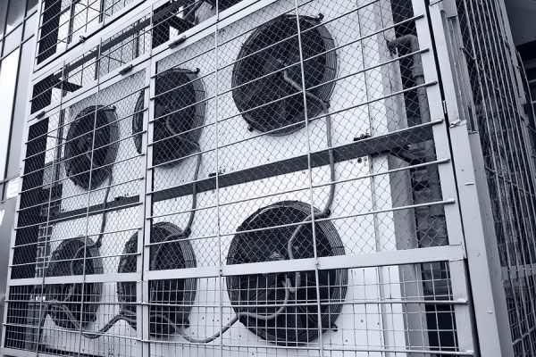 Commercial cooling HVAC air conditioner condenser fan units battery set climate control and refrigeration temperature AC conditioning system